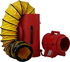 MOUNTO Plastic Compaxial Blower, AC with 25' Ducting and Canister Assembly (8inch)