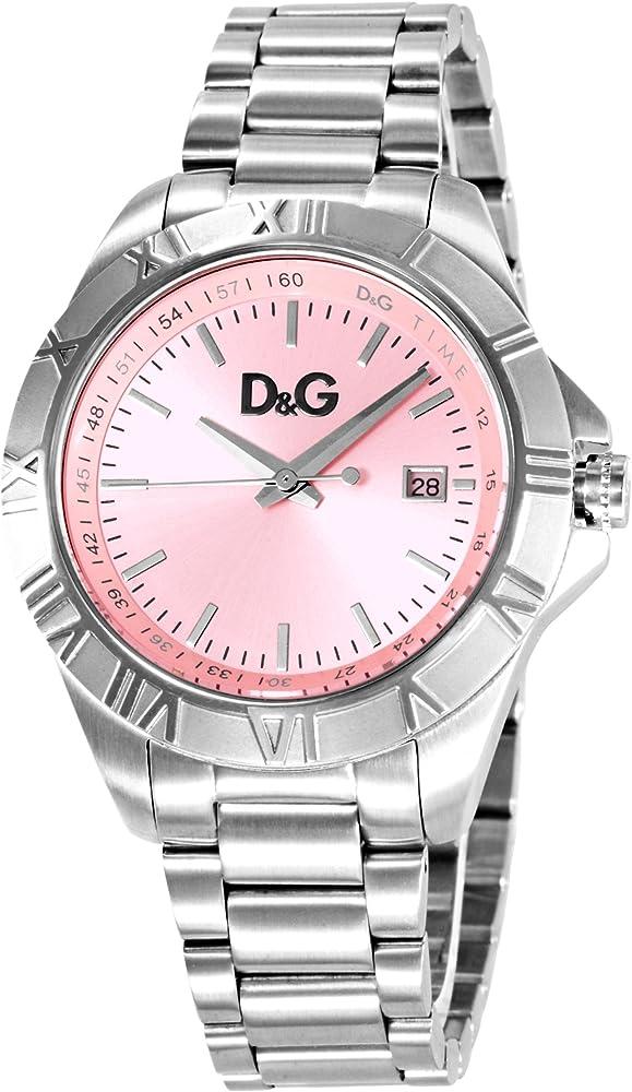 Dolce & gabbana,orologio per donna,in acciaio inossidabile,quadrante rosa DW0649