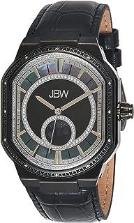 JBW Mens Quartz Watch, Analog Display and Leather Strap J6375C