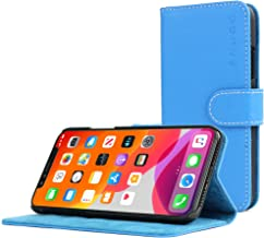 Snugg iPhone Xs (2018) / iPhone X (2017) Wallet Case – Leather Card Case Wallet with Handy Stand Feature – Legacy Series Flip Phone Case Cover in Electric Blue