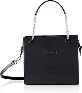 O bag Double, Borsa da donna, Blu navy/argento, Unica