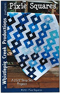 Pixie Squares Quilt Pattern No. 1242 by Whistlepig Creek, Jelly Roll 2.5