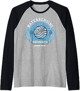 Water Bending University Logo Water Nation  Raglan Baseball Tee