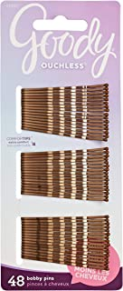 Goody Women's Hair Ouchless Bobby Pin, Crimped Brown, 2 Inches, 48 Count