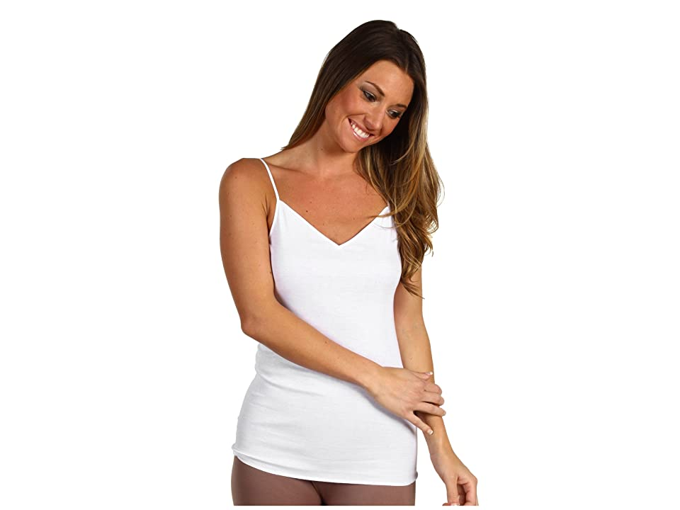 Hanro Cotton Seamless V-Neck Camisole (White) Women