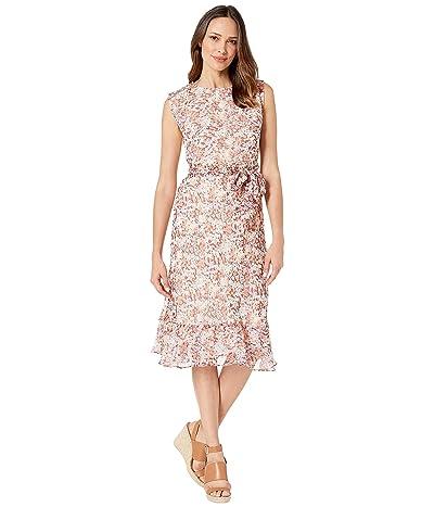 LAUREN Ralph Lauren Floral-Print Georgette Dress (Dark Raspberry Multi) Women