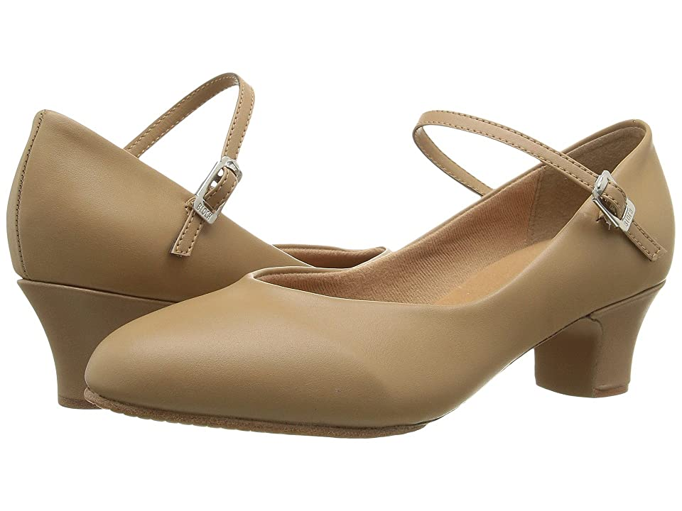 Pin Up Shoes- Heels, Pumps & Flats Bloch Broadway Lo Tan Womens Dance Shoes $43.90 AT vintagedancer.com