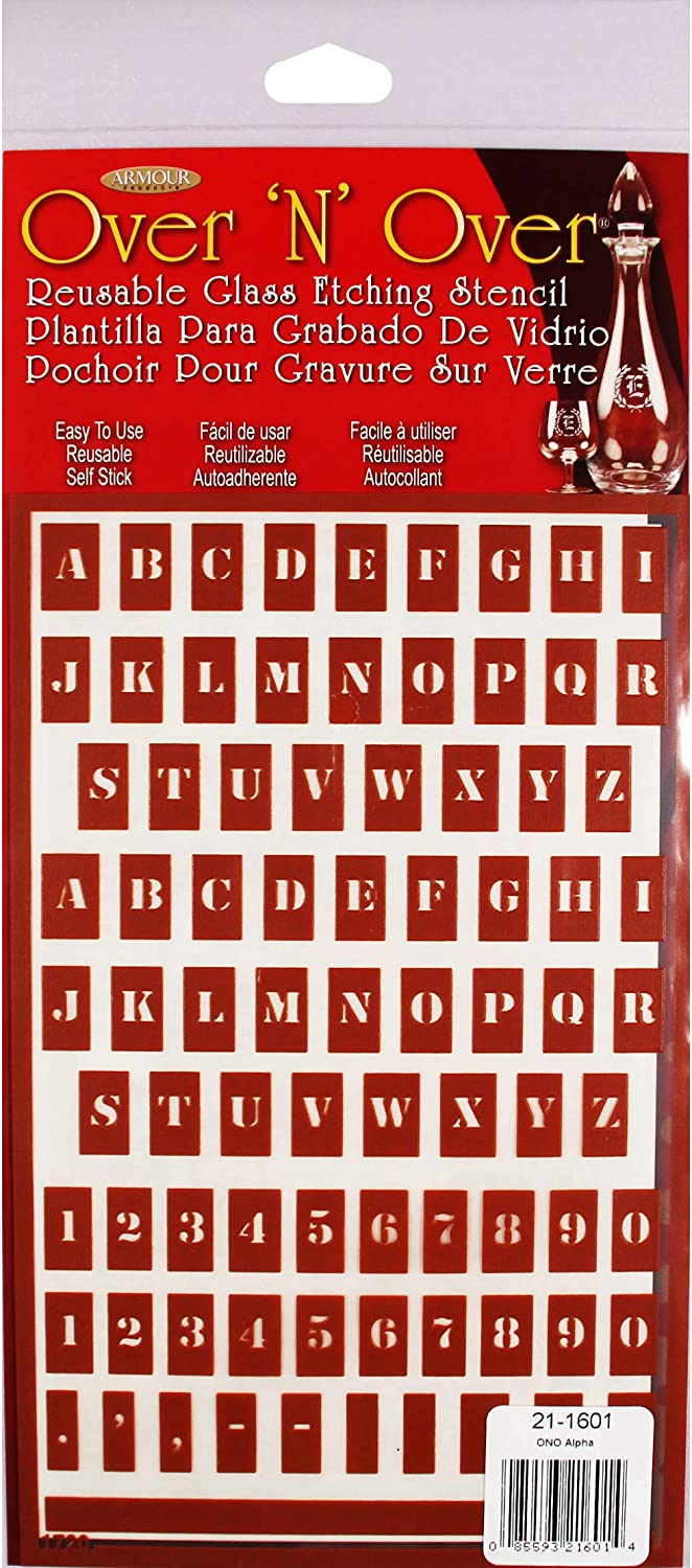 Over 'N' Reusable Nashville-Davidson Mall Stencils Fabric Ranking TOP3 5inX8in-Small Letters