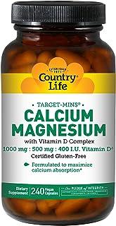 Country Life - blanco-Mins calcio y magnesio con vitamina D