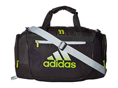 adidas Defender III Small Duffel (Grey Six/Sky Tint Blue/Semi Solar Slime) Duffel Bags