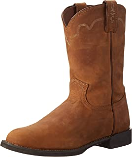 Justin Boots Mens Performance Ropers Performance Ropers Brown Size: