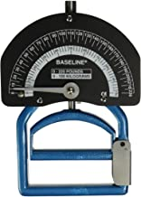 Baseline Smedley Spring Adjustable Handle Hand Dynamometer with Carry Case for Precision Measurement of Hand, Grip and Forearm Strength, 0 to 220 lbs. Force Range
