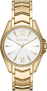 Michael Kors Whitney Women's White Dial Stainless Steel Analog Watch - MK6693