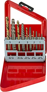 Neiko 01925A Screw Extractor and Left Hand Drill Bit Set, 10 Piece | Alloy Extractors | Cobalt HSS Drill Bits |