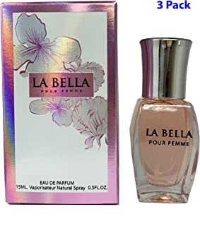 (3 Pack) La Bella Pour Femme by Mirage Brands Fragrances Pocket Travel Mini Size 0.5 oz Inspired by La Vie Est Belle For Women