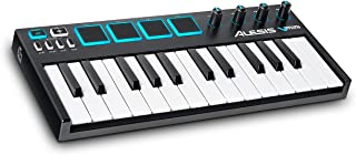 Alesis VMini | Portable 25-Key USB MIDI Keyboard Controller with 4 Backlit Sensitive Pads, 4 Assignable Encoders and Professional Software Suite with ProTools | First Included