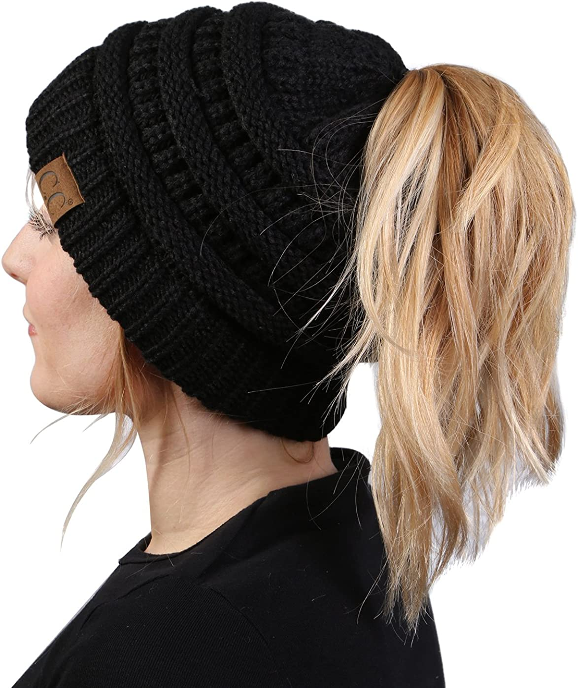 Funky Junque Ponytail Messy Bun Women's Max 40% OFF Max 68% OFF Solid Beanie BeanieTail
