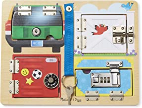 Melissa & Doug Locks & Latches Board Wooden Educational Toy (Sturdy Wooden Construction, Helps Develop Fine-Motor Skills, Great Gift for Girls and Boys - Best for 3, 4, 5 Year Olds and Up)