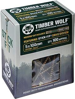Timber Wolf Woodscrews - 5.0 x 100mm