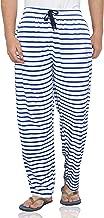 Fflirtygo Men's Cotton Pyjama Bottom, 100% Hosiery Cotton Export Quality Fabric, Blue and White Striped Printed Pyjama for Men, Men's Leisure Wear, Night Wear Pajama