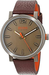 Hugo Boss Orange Mens Analogue Classic Quartz Watch with Leather Strap 1550036