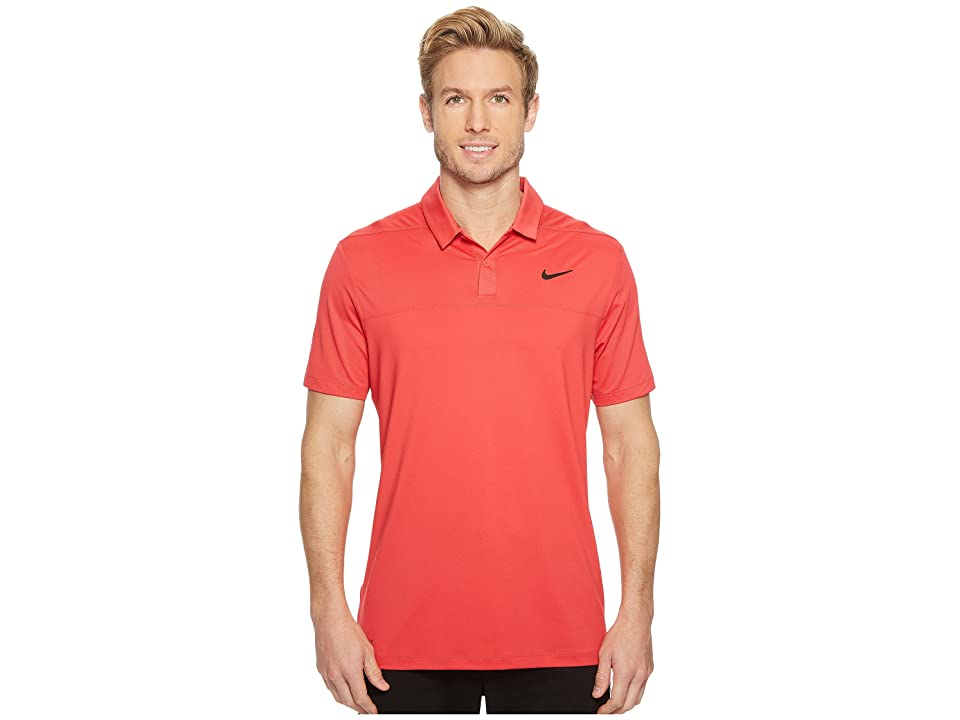 Nike Golf Color Block Dry Polo (Tropical Pink/Gym Red/Black) Men