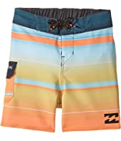 Billabong Kids - All Day X Stripe Boardshorts (Toddler/Little Kids)