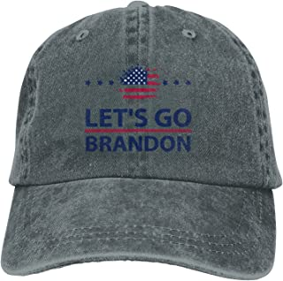 Sponsored Ad - Let's Go Brandon FJB Denim Caps 100% Cotton Fits Men Women Washed Denim Adjustable Dad Hat Trucker Hat Deep...