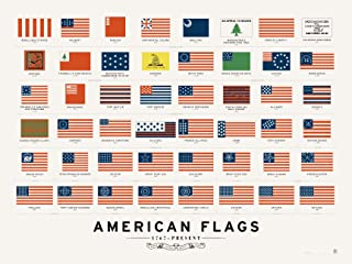Pop Chart Lab American Flags Poster Print, 24