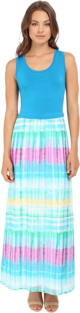 Maxi Dress w/ Chiffon Bottom