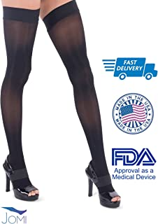 colorful thigh high compression stockings