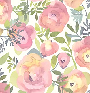 NuWallpaper NU3035 Peachy Keen Pink Peel & Stick Wallpaper
