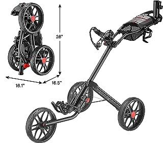 CaddyTek Caddylite 15.3 V2 - Deluxe Quad-Fold Golf Push Cart