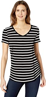 Women's Casual Summer V Neck Tops Basic Color Block Tshirts Women's Lightweight Lounge Terry Tank Womens Short Sleeve V Neck Dolman Tops with Side Shirring Loose Fit Shirts Women's Lightweight Lounge Terry Short-Sleeve Side-Slit T-Shirt Women's Relaxed-Fit Short-Sleeve V-Neck Tunic
