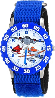 Disney Kids' Planes Fire and Rescue Group, W001634, Analog Display Analog Quartz Blue Watch