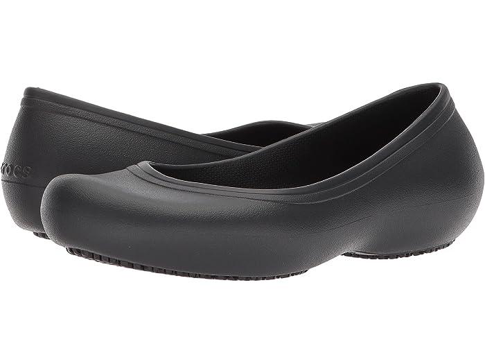 Crocs Crocs At Work Flat | Zappos.com