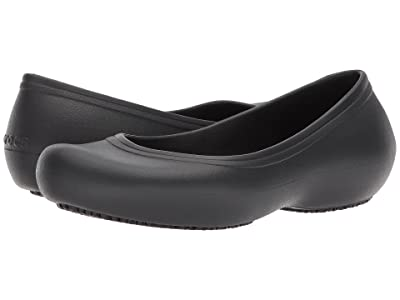 Crocs Crocs At Work Flat (Black) Women