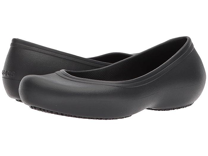 Crocs   At Work Flat (Black) Womens Flat Shoes