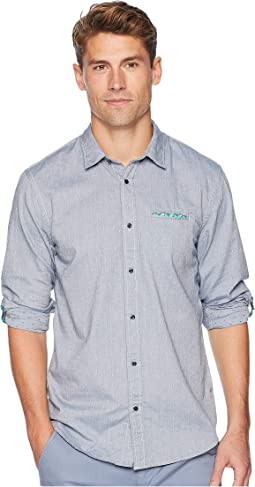 Regular Fit Classic Shirt w/ Chest Pocket, Fixed Pocket Square