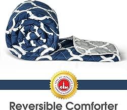 Divine Casa Microfibre Comforter/Blanket/Quilt/Duvet Lightweight, All Weather Single Comforter, Abstract- Blue