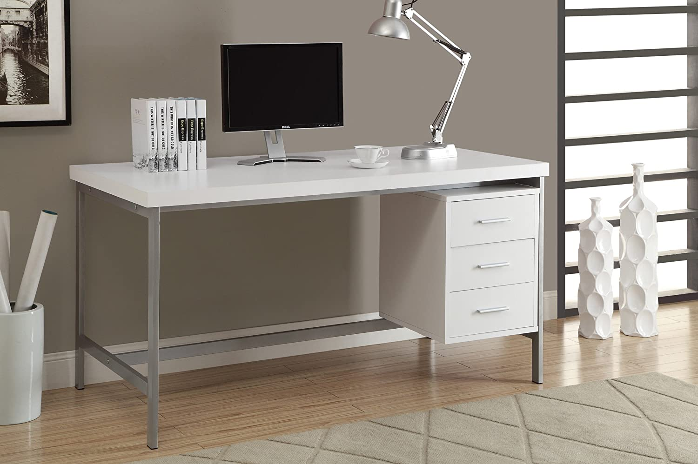 Max 54% OFF Monarch Specialties Hollow-Core supreme Silver Metal Desk 60