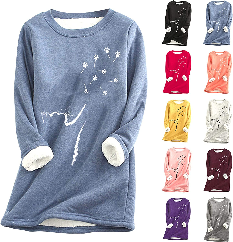 Onemopie Women's Scoop Neck Long Sleeve Full Fleece Lined Thermal Underwear Tops Blouse T-Shirt