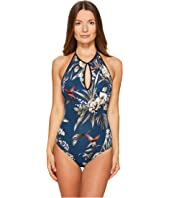 FUZZI - One-Piece Hummingbird Cut Out Bathing Suit