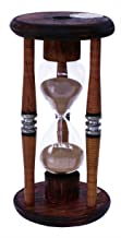 River City Clocks 15 minute antique wood sand timer, 10-inch tall