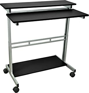 LUXOR Standup-40-B Stand Up Desk, Black