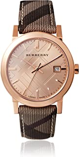 BURBERRY The City Rose Gold FACE BU9040 Unisex Watch