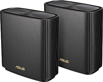 ASUS ZenWifi XT8 - Sistema Wi-Fi 6 Mesh Tri-Banda AX6600, Pack de 2 (Cobertura de más 510m2, AiProtection con TrendMicro, puerto WAN/LAN 2,5 Gigabit, 3 puertos LAN Gigabit, QoS, compatible Smart TV)