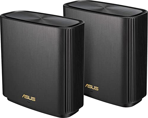 ASUS ZenWiFi AX Whole-Home Tri-Band Mesh WiFi 6 System(XT8), Coverage Up to 410 sq m or 4400 sq ft or 6+ Rooms, 6.6 G...