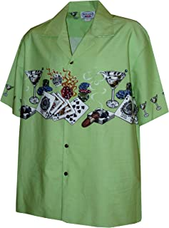 Pacific Legend Mens S to 4X Royal Flush Hot Dice Vegas Style Chest Band Shirt