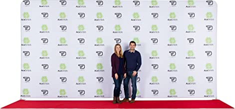 Ace Exhibits - 20' x 10' FLAT EVENT TRU-FIT 3.0 - w/LED Lights - Dye-Sub Printed Graphic Stretch Tension Fabric - Step and Repeat Banner – Red Carpet Backdrop – Step and Repeat Backdrop